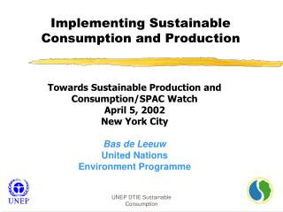 Implementing Sustainable Consumption and Production