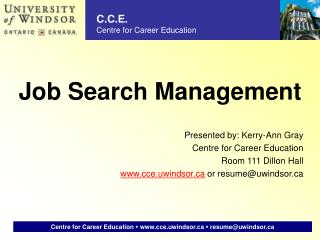 Job Search Management