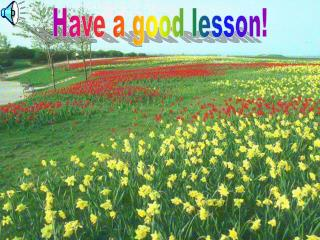 Have a good lesson!