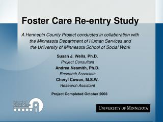 Foster Care Re-entry Study