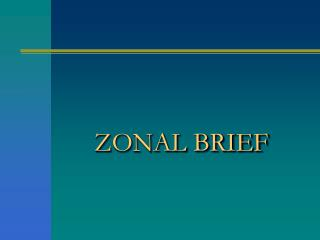 ZONAL BRIEF
