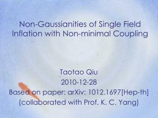 Non-Gaussianities of Single Field Inflation with Non-minimal Coupling