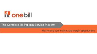 OneBill - Subscription Billing Platform: An Overview