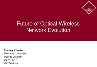 Future of Optical Wireless Network Evolution