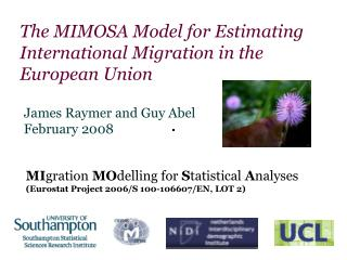 The MIMOSA Model for Estimating International Migration in the European Union