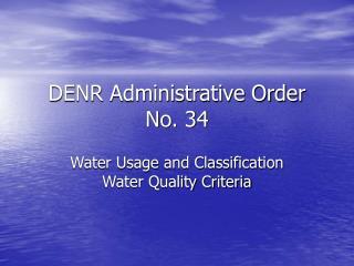 DENR Administrative Order No. 34