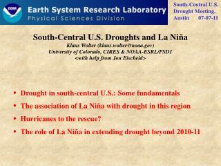 South-Central U.S. Droughts and La Niña