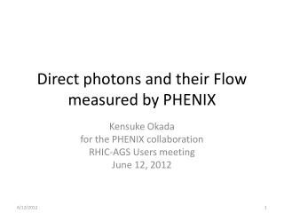 Direct photons and their Flow measured by PHENIX
