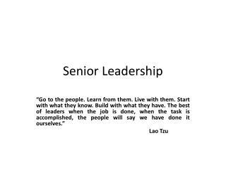 Senior Leadership