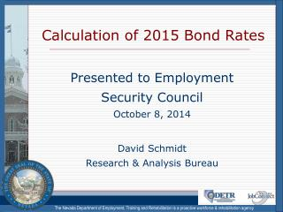 Calculation of 2015 Bond Rates