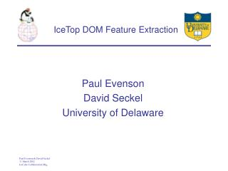 IceTop DOM Feature Extraction