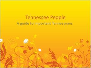 Tennessee People
