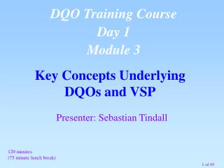 Key Concepts Underlying  DQOs and VSP