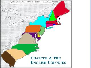 Chapter 2: The English Colonies