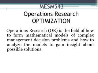 MESM543