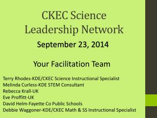 CKEC Science  Leadership Network