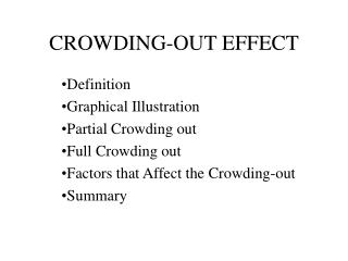 CROWDING-OUT EFFECT