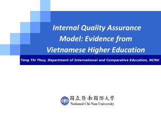 Internal Quality Assurance Model: Evidence from Vietnamese Higher Education