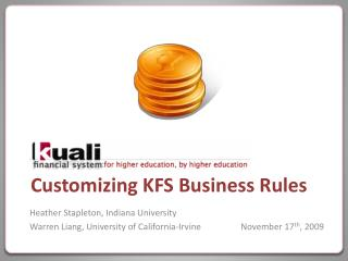 Customizing KFS Business Rules