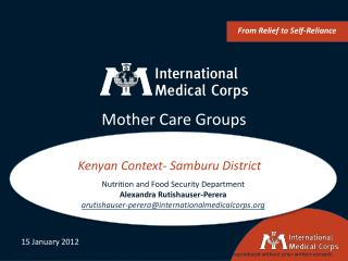 Mother Care Groups