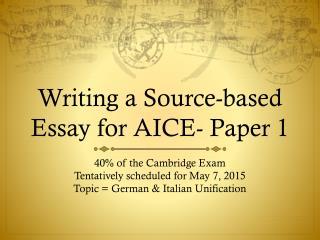 Source based essay history