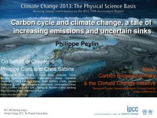 Carbon  cycle and  climate  change, a tale of  increasing emissions  and  uncertain sinks