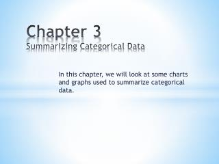 Chapter 3 Summarizing Categorical Data