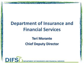 Department of Insurance and Financial Services