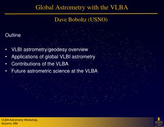 Global Astrometry with the VLBA