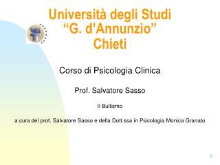 Universit  degli Studi   G. d Annunzio   Chieti