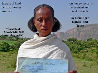 Impact of land certification in Amhara