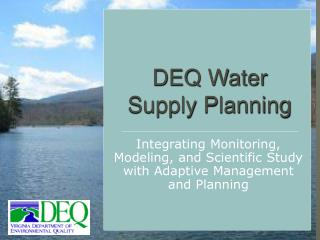 DEQ Water Supply Planning