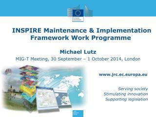 INSPIRE Maintenance  & Implementation  Framework Work  Programme