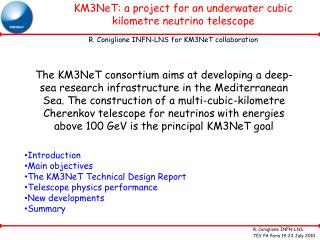 KM3NeT: a project for an underwater cubic kilometre neutrino telescope