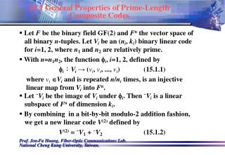 15.1 General Properties of Prime-Length Composite Codes