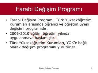 Farabi Degisim Programi