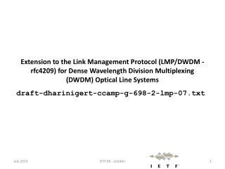 draft-dharinigert-ccamp-g-698-2-lmp-07.txt