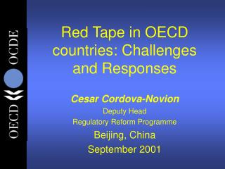 Red Tape in OECD countries: Challenges and Responses