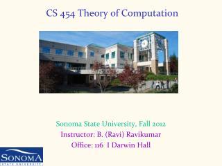 CS 454 Theory of Computation