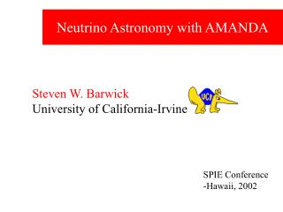 Neutrino Astronomy with AMANDA