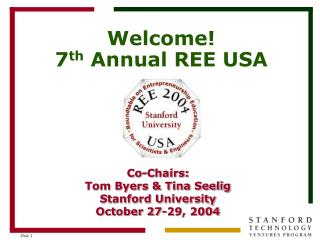 Welcome! 7 th  Annual REE USA