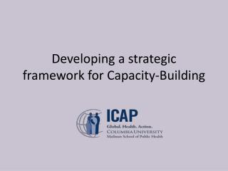 Developing a strategic framework for Capacity-Building