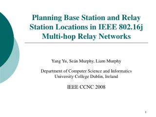 Planning Base Station and Relay Station Locations in IEEE 802.16j Multi-hop Relay Networks