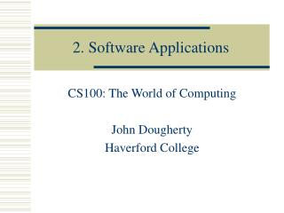 2. Software Applications