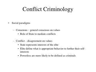 Conflict Criminology