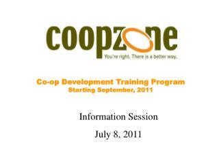 Co-op Development Training Program Starting September, 2011