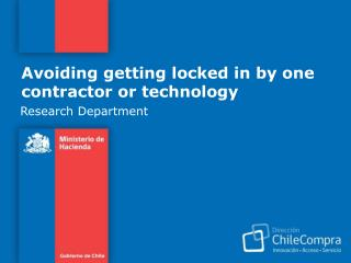 Avoiding getting locked in by one contractor or technology