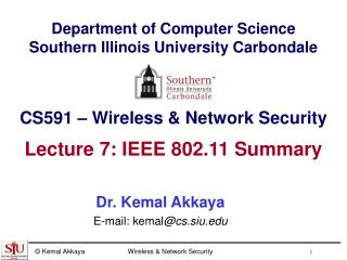 Department of Computer Science Southern Illinois University Carbondale