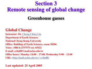 Section 3  Remote sensing of global change