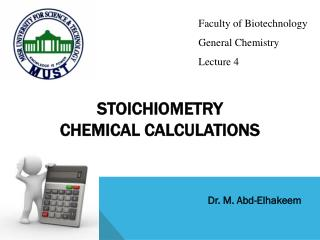STOICHIOMETRY Chemical Calculations